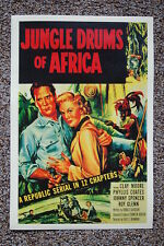 Jungle Drums of Africa Lobby Card Movie Poster