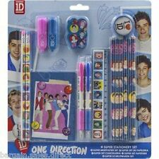 ONE DIRECTION 1D KIDS HOME & SCHOOL SUPER STATIONERY SET