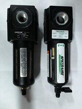 Used Speedaire air filter 4ZL42 & Excelon filter oil removal inlet F73G-3AS-005