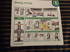 Transavia Boeing B737-700 Safety Card Airlines Air France KLM