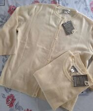 NWT Investments 100% cashmere sweater set - cream off white cardigan set - gift