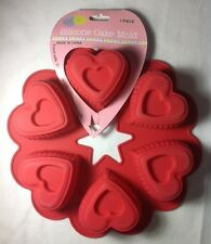 6 Heart Shaped Silicone Cup Cake Muffin Mold for Valentines Day Ankyo