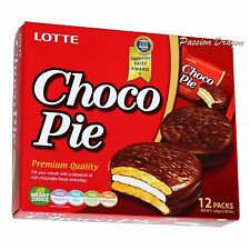Lotte Choco Pie ChocoPie Chocolate Marshmallow Cake 12 Pack Korean