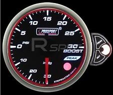 Prosport 60mm Smoked Stepper Motor Gauge Turbo Boost PSI White Blue Amber