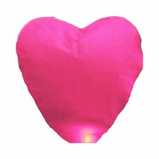 5 Pink Heart Chinese Sky Lantern Wedding Anniversary Valentine Party Celebration