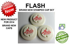 Williams FLASH Pinball Machine Pop Bumper CAP Set BRAND NEW STAMPED
