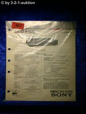 Sony Service Manual CDP 250 / 450 CD Player (#0467)