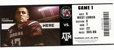2014 SOUTH CAROLINA GAMECOCKS VS TEXAS A&M TICKET STUB 8/28 KENNY HILL RECORD