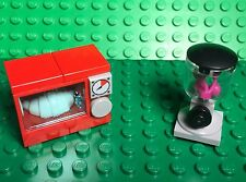 Lego New City Microwave Oven And Blender W/ croissant,Cherry Foods MOC / Custom