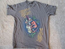 Christian Audigier Los Angeles T-Shirt Skull Knife Tattoo 2XL