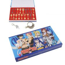 Quality Fairy Tail Lucy Celestial Spirit Gate Keys set 18 pcs Necklace Pendant