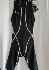 SPEEDO SWIMWEAR FEMALE BLACK ZIP BACK KNEESKIN FASTSKIN SIZE 27. SEE SIZE CHART