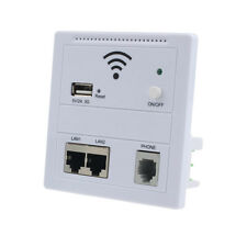 USB Charging Wireless Wall Wifi AP Repeater Router For Home Hotel Whit Free P&P