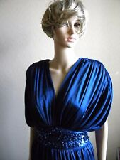 Vtg Lizzy & Johnny By Lucero 70s Disco dress navy blue  Sequin size 9/10