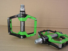 SCUDGOOD BMX Mountain sealed Bearing Pedals Platform Bicycle Pedal BLACK+GREEN