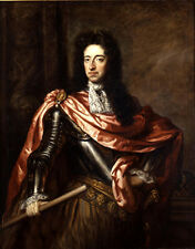 Huge art Realism oil painting male portrait King William III of England