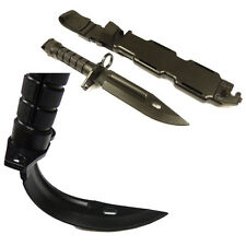 M9 Plastic Rubber Bayonet Black Self Defense Training Airsoft Reenactment