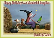 personalised birthday card room on the broom grandson son daughter grandaughte a