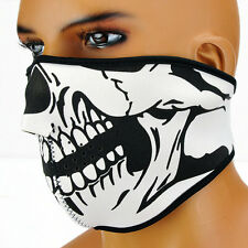 Half Face  Skeleton Ghost Skull Face Mask Biker Halloween Props Mask Sexy