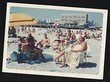 Vintage Photograph People In Bathing Suits Sunning Themselves At the Beach