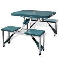 Tavolo E Sedie Campeggio.Bakaji Set Tavolino Pieghevole E 4 Sgabelli Per Campeggio Verdi