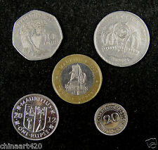 Mauritius coins set of 5 pieces Circulated