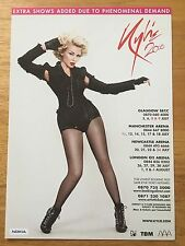 KYLIE MINOGUE - 1 x 2008 'X' UK TOUR FLYER (SIZE A5)