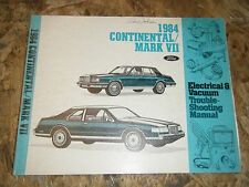 1984 LINCOLN CONTINENTAL MARK VII FACTORY ELECTRICAL TROUBLESHOOTING MANUAL