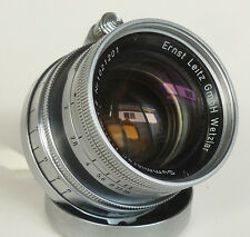 LEICA LEITZ SUMMICRON 50mm f/2 COLLAPSIBLE CHROME SCREW LENS 1.02M RADIOACTIVE