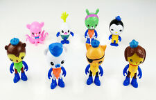 8Pcs Octonauts Figures Barnacles Peso Kwazii Dashi PVC Doll Toys Gift Collection