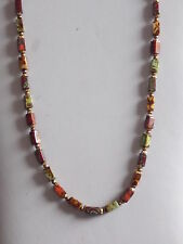 Always Sought After ! Italian Murano Agate Bead Necklace