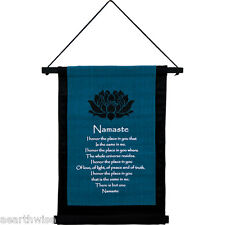 COTTON NAMASTE WALL HANGING BANNER 406 x 310 mm Wicca Witch Pagan Yoga New Age