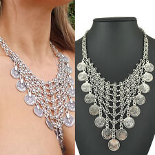 New Ancient Coin Silver Chain Choker Necklaces & Pendants Jewelry Bijoux Women