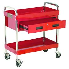 350 lb Capacity Large Service Cart with Locking Storage Drawer Tool Cart