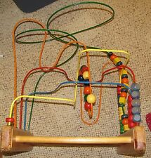 ANATEX Wood Bead Maze Roller Coaster Activity Waiting Room Toy 1980's