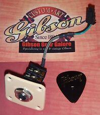 Gibson Les Paul Standard Input Jack Guitar Parts Quick Connect HP Plate Creme ES