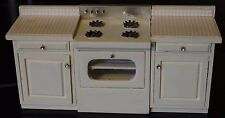 DOLLHOUSE MINIATURE FURNITURE STOVE CABINET KITCHEN