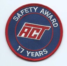 ACT AAA Cooper Transportation truck driver patch 17 years safety award 3 in