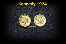 mini Pièce OR 22K GE Liberty KENNEDY USA 1974 Half GOLD