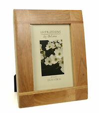 "Impressions Oak Wood Photo Picture Frame with Cross Batons 5"" x 7"" FW67657"