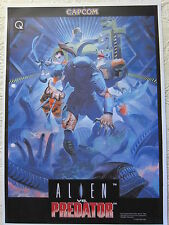 POSTER ALIEN VS PREDATOR FLYER RECREATIVA DIN-A 3 DIN A3 CAPCOM CPS2