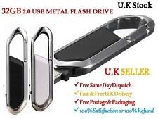 32GB FLASH PEN DRIVE USB 2.0 METAL SWIVEL KEY CHAIN  MEMORY STICK FANCY GIFT