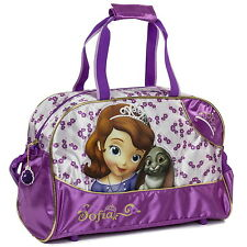 NEW OFFICIAL Sofia The First Disney Girls Duffle Holdall Overnight / Travel Bag