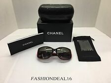 New Chanel Women's CH5227H 1297/3C Red Sunglasses