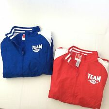 Team 365 Mens Varsity Athletic Jackets Size Medium Full Zip Coats 1 Blue / 1 Red