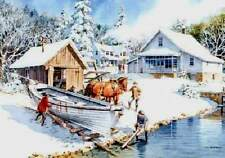 Charles Peterson  November At Anderson's Dock Rare S/N Fishing Rare Giclee Paper