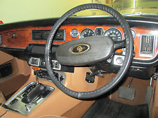LEATHER STEERING WHEEL COVER, GLOVE JAGUAR XJ6 XJ12 Series 1 2 3 XJS Series 1 2