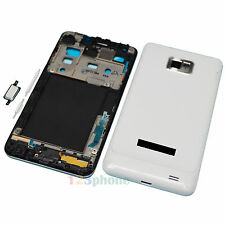 WHITE FULL HOUSING COVER + FRAME + BUTTON FOR SAMSUNG GALAXY S2 i9100 #H354