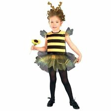 Bumble Bee Honey Girls Kids Toddler Fairy Halloween Fancy Dress Up Party Costume