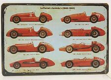 Ferrari Formula 1 1948 1960 Vintage Retro Metal Sign Home Garage Pub Studio